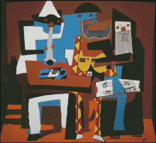 Esquema de Cuadros de Picasso en Punto de Cruz (7)