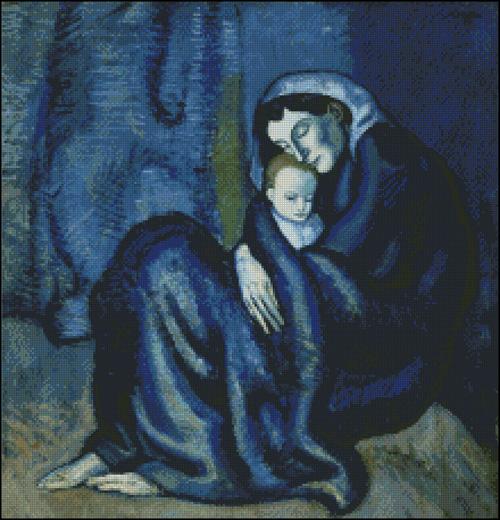 Esquema de Cuadros de Picasso en Punto de Cruz (8)