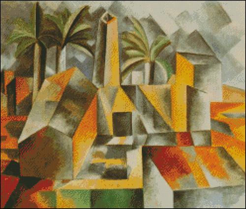 Esquema de Cuadros de Picasso en Punto de Cruz (9)