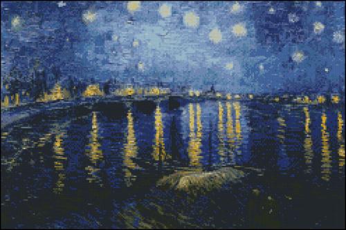 Cuadros de Van Gogh - Hilos para Bordar (DMC, Rosace, Anchor ...