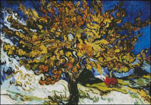 Esquema de Cuadros de Van Gogh en Punto de Cruz