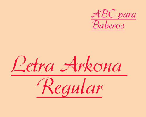 ABC Baberos Letra Arkona Regular