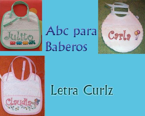 ABC Baberos Letra Curlz - Hilos para Bordar (DMC, Rosace, Anchor ...