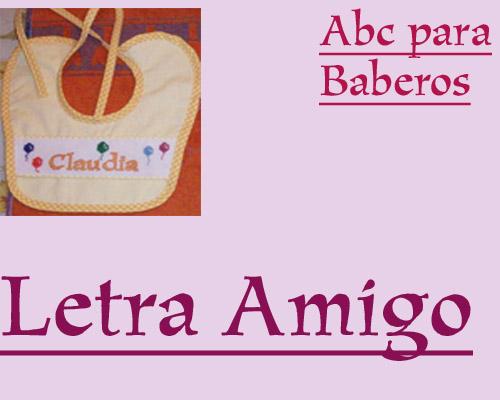ABC Baberos Letra Amigo