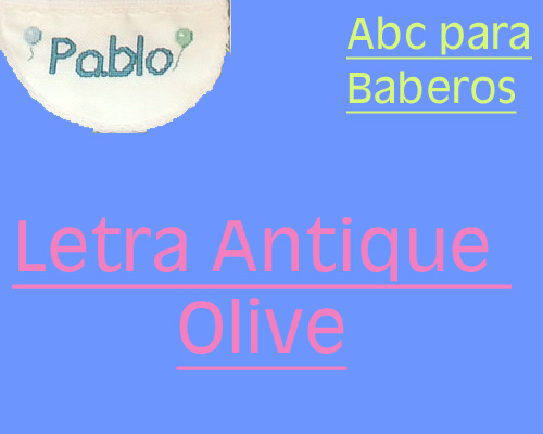 ABC Baberos Letra Antique Olive