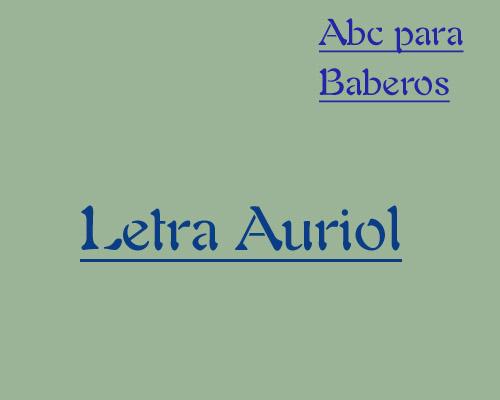 Esquema de Abecedario para Baberos Letra Auriol en Punto de Cruz