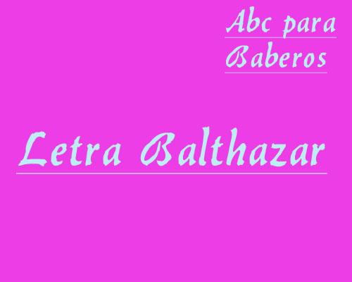 Esquema de Abecedario para Baberos Letra Balthazar en Punto de Cru