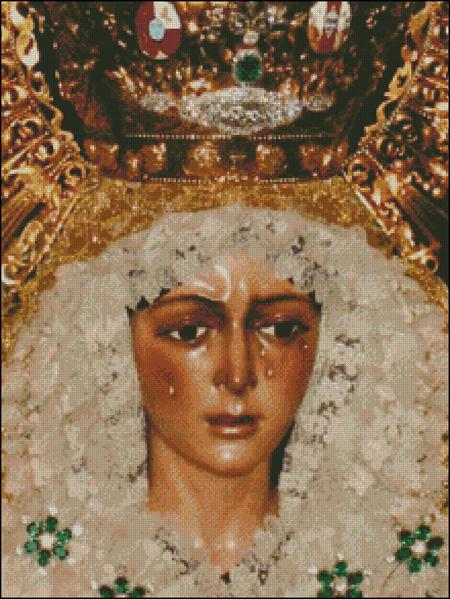 Esquema de la Virgen de la Macarena en Punto de Cruz (4)