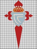Esquemas del Celta de Vigo en Punto de Cruz