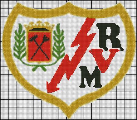 Esquema del Rayo Vallecano en Punto de Cruz (1)