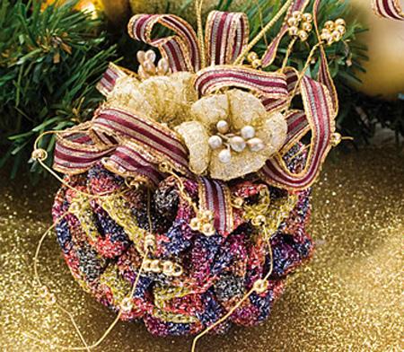 Bolas de Navidad de Ganchillo