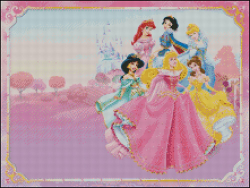 Esquemas de las Princesas Disney en Punto de Cruz (6)