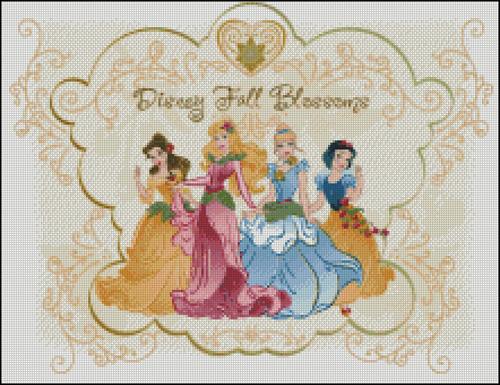 Esquemas de las Princesas Disney en Punto de Cruz (9)